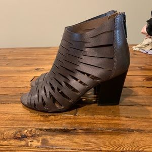Donald Pliner Metallic Zip-Up Booties